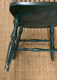 Pair, Vintage Mid Century Spindle Back Windsor Chairs, Signed