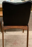 Pair, Mid Century Arch Back, Sculptural Wood Chairs