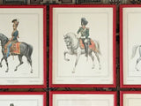 Set of 6 Mid Century European Equestrian Horse Prints