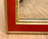 Old Mirror, Red and Gilt Wood Frame