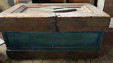 Antique Wood Painted Trunk - Chest - Studio Lane at Reposed NY Vintage Home Decor