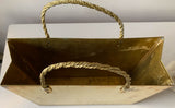 Mid Century Brass Magazine Holder - Pocket Book, Shopping Tote Form