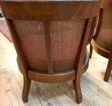 Pair, Mid Century Tomlinson Caned Lounge Chairs