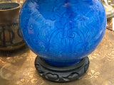 Antique Turquoise Asian Lamp