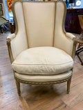 Antique French Wing Back Chair