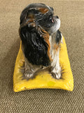 Vintage King Charles Spaniel on a Pillow - Dog Statue