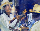 Mid Century Watercolor Painting - Mandolin, Signed