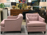 Mid-Century Transitional Club Chairs - A Pair