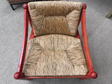 Mid Century Signed Cassina Italian Carimate Chair - Rush Seat