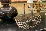 Mid Century Chrome Basket