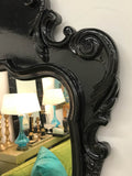 Large Black Lacquered Mirror