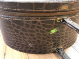 Vintage Faux Crocodile Truly Light Luggage