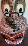 Vintage Owl Cookie Jar - Back to School, Teacher