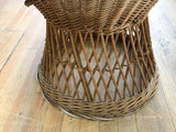 Mid Century Round Back Wicker Chair