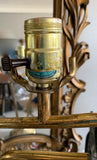 Pair, Mid Century Brass Lamps - Abstract Form