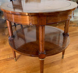 Mid Century Round Bouillette Side Table