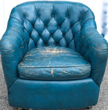 Mid Century Leather Ward Bennet Tufted Club Chair