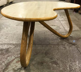Mid Century Kidney Bean Shape Bamboo Coffee Table