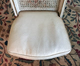 Vintage French Provincial Caned Boudoir Chair - Signed W . & J. Sloane