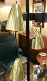 Mid Century Brass and Black Floor Lamp