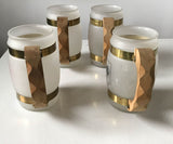 Set of 4 Vintage Glass Beer Mugs
