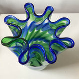 Ruffled Edge Glass Vase