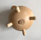 Vintage Danish Piggy Bank With Leather Ears