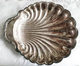 Antique Shell Silverplate Dish