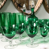 Mid Century Set of 35 Crystal Stemware Glasses and Decanter
