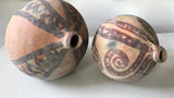 Pair of Old Clay Painted Vessels