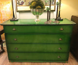 1940's Hollywood Regency Chinoiserie Chest of Drawers, Signed RWay