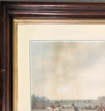 19th Century Framed Equestrian Engravings by Listed Artist John Frederick Herring Senior - a Pair