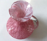 Old Pink Swirl Glass Pitcher