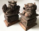 Vintage Foo Dogs Statues - a Pair