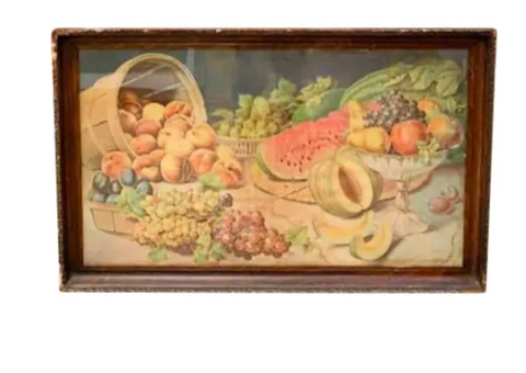 Antique Fruit Lithograph, Signed Donaldson Lith