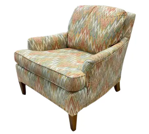 Mid Century Lounge Chair - Missoni Style Upholstery