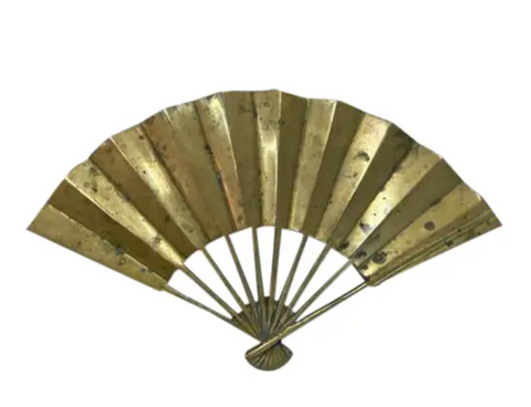 Mid Century Brass Fan Shape Trivet