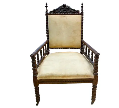 19th Century Antique Barley Twist Arm Chair