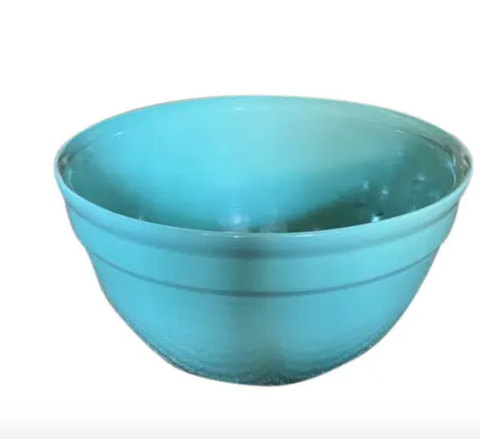 Large Mid Century Green Bowl