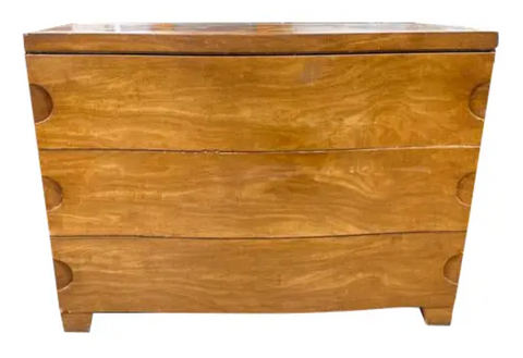 Mid Century Bow Front Chest of Drawers