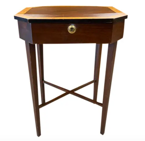 Wood Hinged Top Side Table - Jewelry Table
