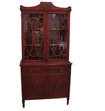 1940's Mahogany China Cabinet