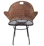 1960's Wicker Swivel Desk Chair