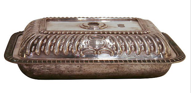 1920's Silver Plate Lidded Serving Dish