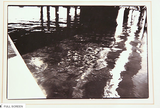 Vintage Photo - Black and White - Water under Dock