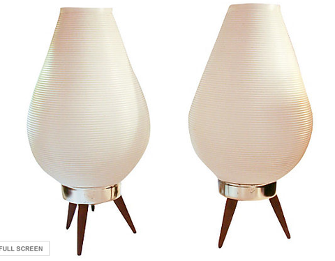 Pair, Danish Mid Century Lamps