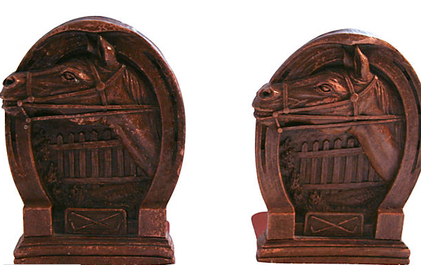 Pair Horse Head Book Ends