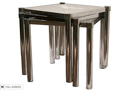 1970's Chrome Nesting Tables