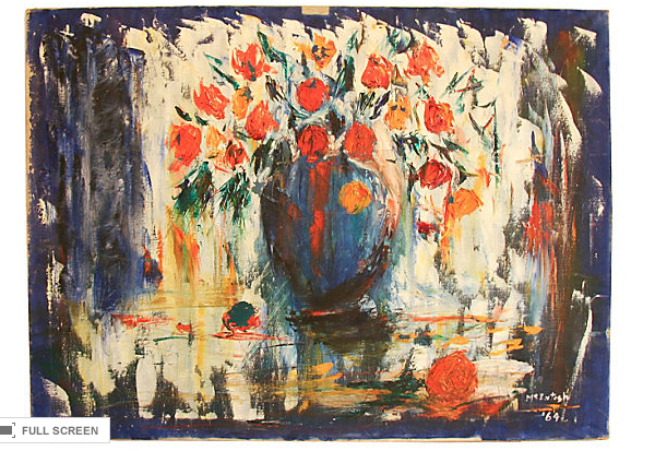 1964 Oil Painting - Still Life Floral