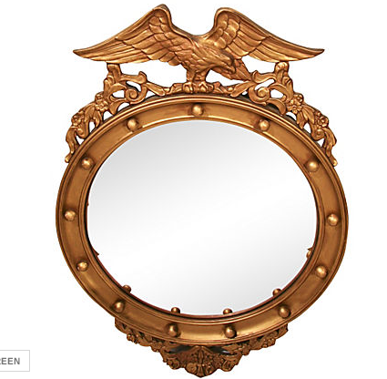 Federal Style Convex Mirror